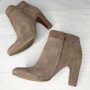 [Loft] Taupe Suede Ankle Booties Sz. 9.5